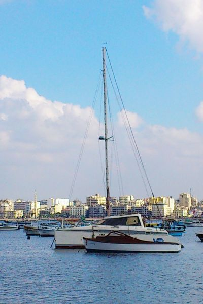 Alexandria Egypt Old Harbour Old Phone Yachtclub Boat Just Chillin' I Love My City