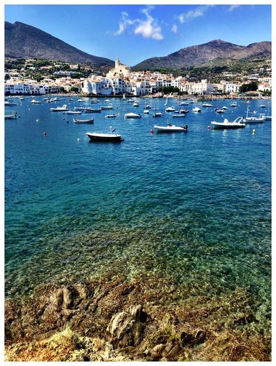 Cadaqués Blueandwhite Mediterranean  Lazysaturday Beingatourist  Vertical Panorama Enjoying The View Crystal Clear Waters