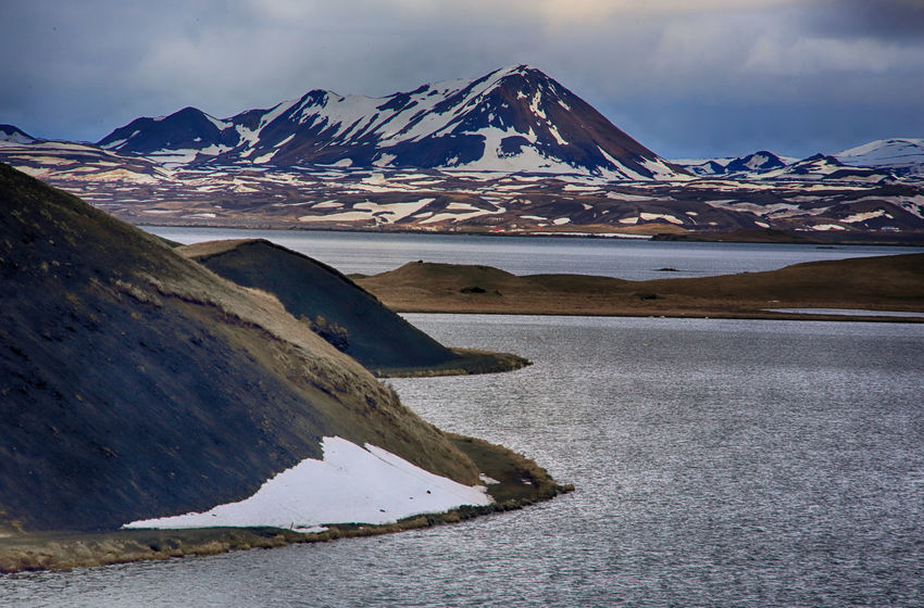 Lakes of Skutustadagigar in Iceland Iceland Beauty In Nature Cold Temperature Day Frozen Glacier Ice Iceberg Lake Landscape Mountain Mountain Range Nature No People Outdoors Salt - Mineral Scenics Sky Snow Snowcapped Mountain Tranquil Scene Tranquility Water Weather Winter