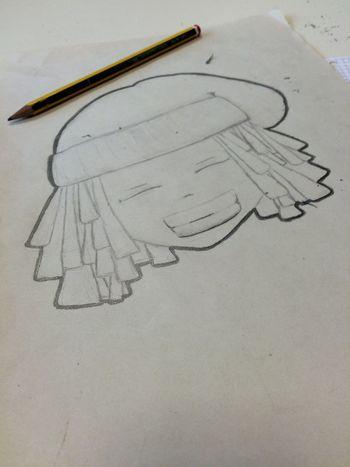 Draw Drawing Smile RastaBoy Bob Marley Street Art School