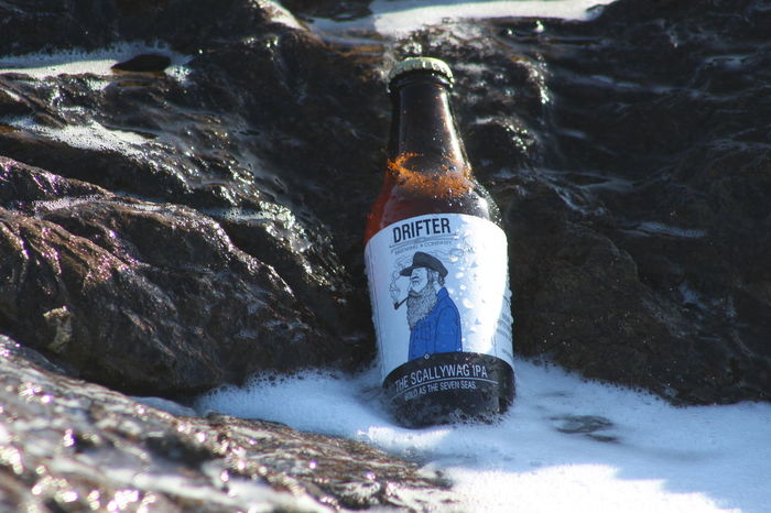 Beer Beerporn Brewing Close-up Craft Craft Beer Craftbeer Drifter Focus On Foreground No People Outdoors Rock - Object Scallywag Sea Water