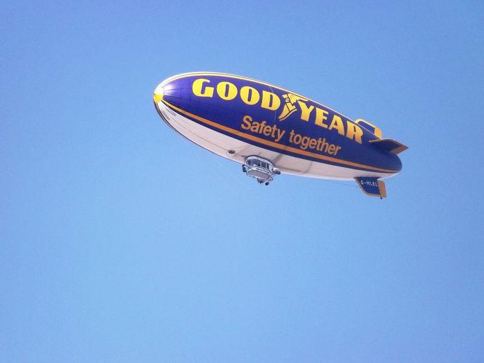 Goodyear Blimp balloon Balloon Airship Clear Blue Sky Goodyear