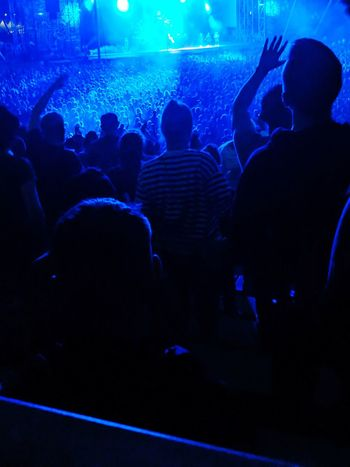 Popular Music Concert Fan - Enthusiast Crowd Audience Musician Illuminated Nightlife Nightclub Performance Men
