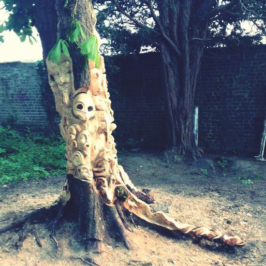 Il y a bien des arbres originaux dans ce monde. Tree Sculpture Wood Art