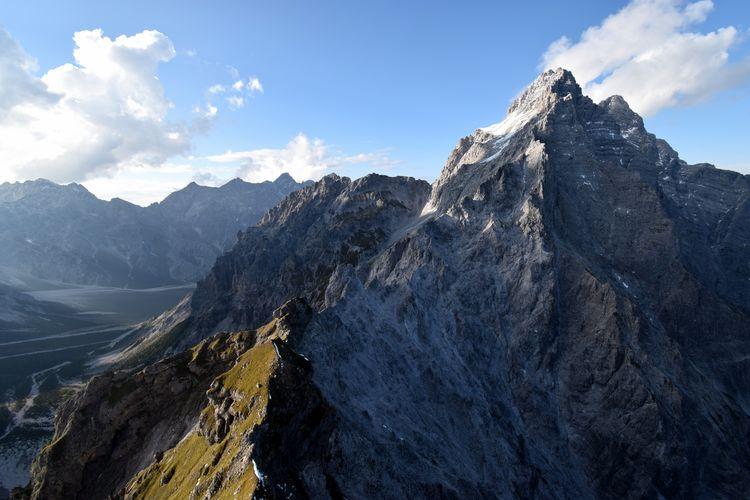 View from hirschwieskopf towards  watzmann, berchtesgaden national park, bavaria, germany