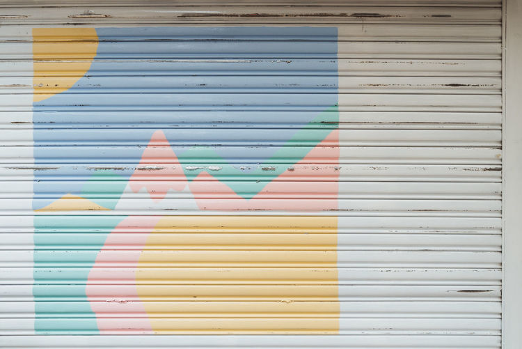 Photos from Taiwan-Trip 2017 Pastel Power Architecture Art And Craft Built Structure Close-up Corrugated Iron Creativity Full Frame Multi Colored No People Pastek Pastel Pastel Colors Pattern Variation Wall - Building Feature Yellow