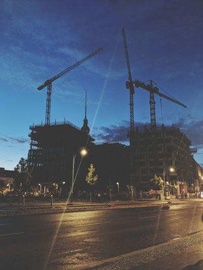 City Cityscape Construction Site Crane - Construction Machinery Sky Architecture Built Structure Building Exterior