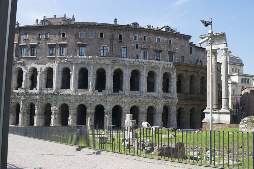 theatre of Marcellus in Rome Anphitheater Rome Theater Ancient Ancient Civilization Architecture Building Exterior Built Structure History Maecellus Theatre Travel Destinations