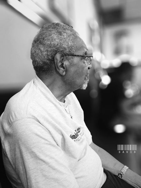 Next in the chair Barber Shop Black And White Portrait Black And White Portrait