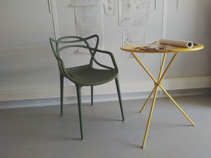 With the masters Masters Kartell Starck Indoor Where I Work Sage Green Brigth Yellow