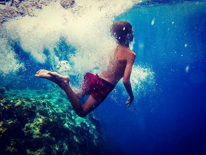 Hello World Underwater LoveNature Summertime Father & Son Outdoor Life Outdoor Photography Summer Leisure Activity EyeEm Nature Lover Blue Outdoors Love Nature Water Sea Enjoying Life Scenics Lifestyles