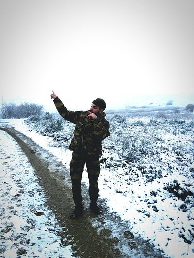 Soldiers Military Life Lovejob Followme Snow Winter Cold Temperature Adult Outdoors Nature Beauty In Nature