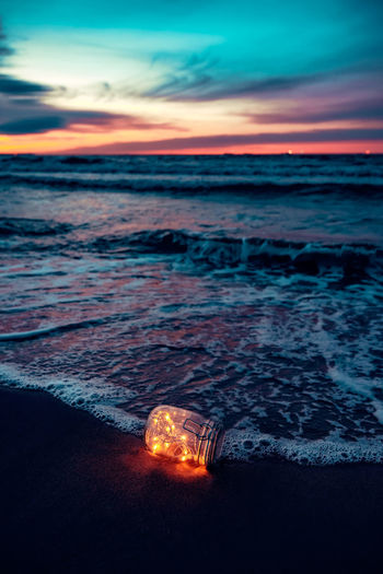 Glowing message Fairy Lights Sunset_collection Beach Beauty In Nature Cloud - Sky Day Dengler Dusk Horizon Over Water Illuminated Matthiessen State Park Nature No People Orange Color Outdoors Scenics Sea Sky Snapshopped Sunset Tranquil Scene Tranquility Water Wave