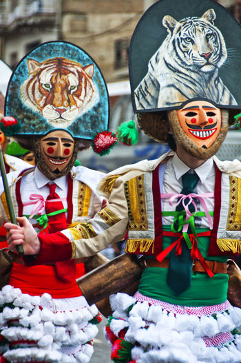Verin Carnival Spain Tradition Verin Carnival Spain Verín Art And Craft Carnibal Carnibal Du Loup Celebration Childhood Close-up Clown Day Human Representation Indoors  Male Likeness Multi Colored No People Tradition