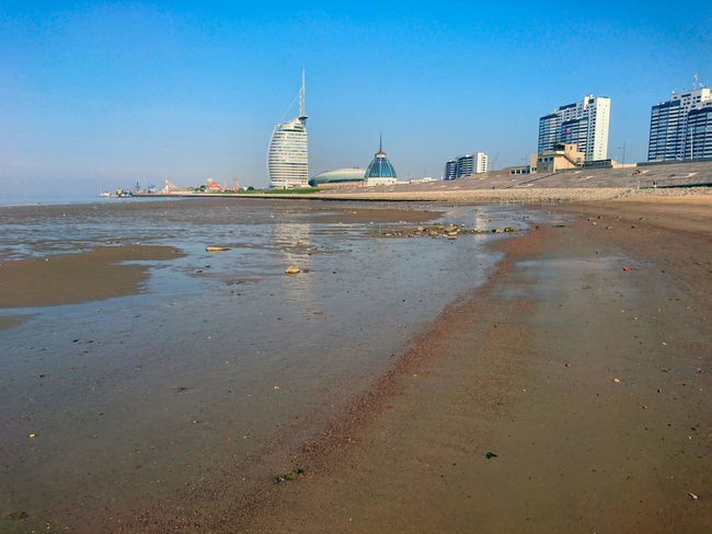 City Clear Sky Columbus Center Mudflat No People Sky Tideland Water Weser Weserdeich