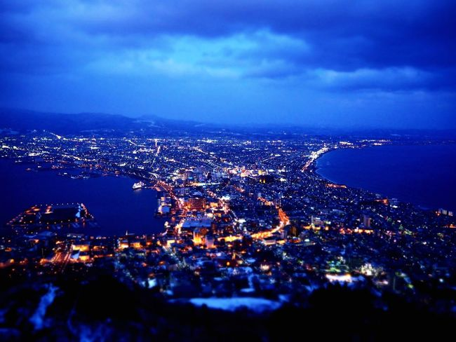 Japan Hokkaido Hakodate 函館 夜景 Beauty In Nature Snow 日本 Olympous Aerial View Illuminated