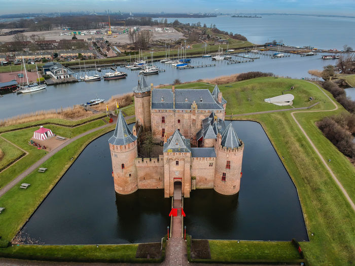 Muiderslot Kasteel Castle Dronephotography Muiden