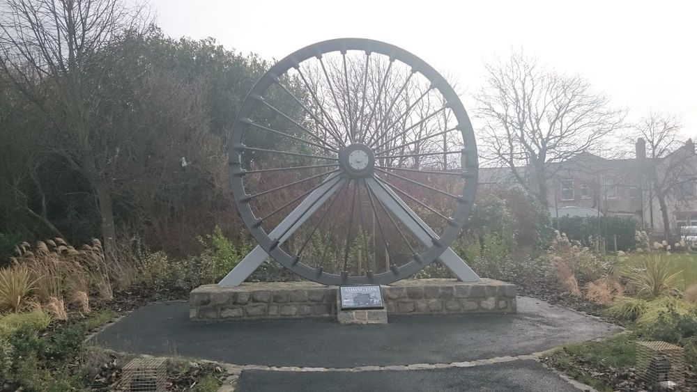 Ashington Pit Wheel... Pit Wheel No People Day Outdoors Water Tree Sky