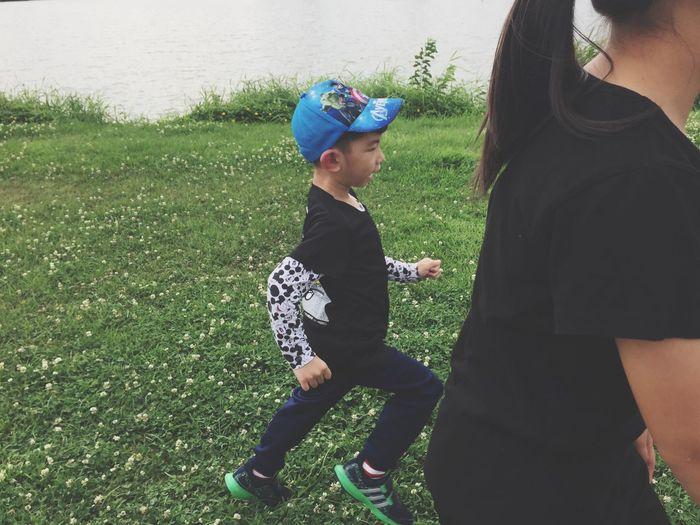 Run Run Run 🏃🏃🏃 Running Boy Real People Leisure Activity Lifestyles Child Childhood Two People Visual Creativity