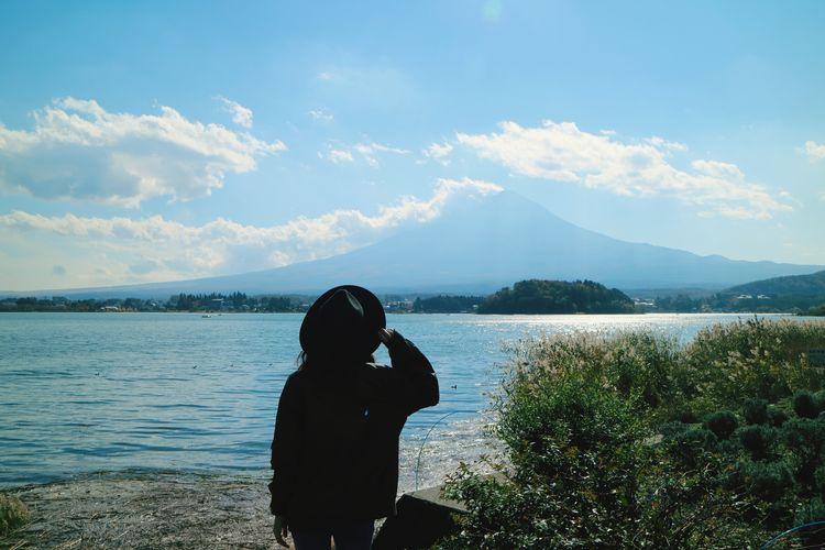 🗻 + 👧 Fujiyama Mt.Fuji Lake Me Buautiful Sky
