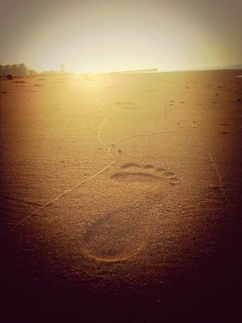 I wanna leave my footprints in the sand of time... Footprints In The Sand Sunrise Life Is A Beach Beach #beachlife #footprints