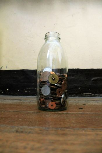 #brown #coins #collection Bottle Close-up Coin Bank No People Still Life
