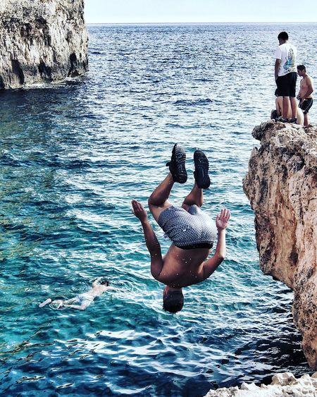Cliff Cliff Jump CliffJumping Cliffjump Cliff Jumper Majorca Mallorca Balears Sea Bluewater Portadriano Live For The Story