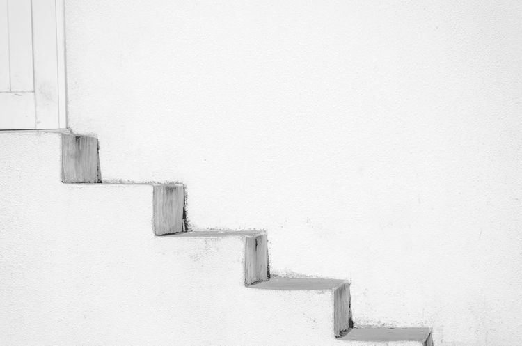 [ flair ] - Full Frame Shot EyeEm Best Shots EyeEm Selects EyeEm Gallery Stairs Stairs & Shadows Architecture Building Building Exterior Built Structure Cold Temperature Copy Space Day No People Old Old Buildings Outdoors Steps And Staircases Wall Wall - Building Feature White White Color Whitewashed
