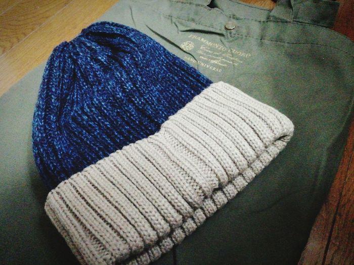 01252016 ニット帽 Nano・universe 革 ダウンジャケットのポイントを使ってnewニット帽を購入~♪