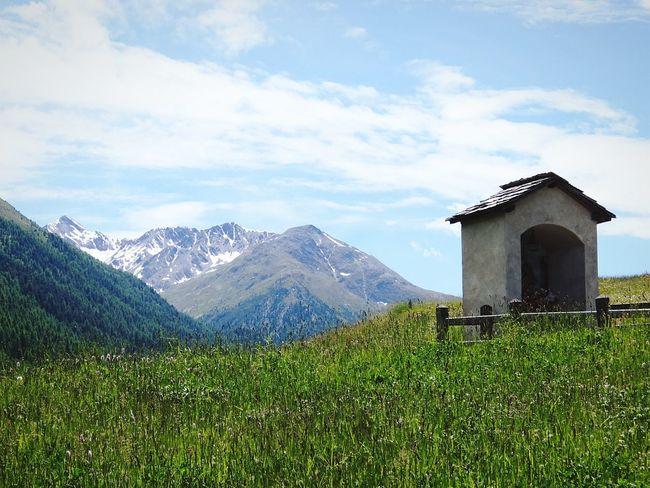 Livigno Valtellina Mountains Alps Church Sunny Velvia Fujifilm