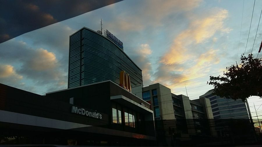Sunset In The City  Davao City, Philippines Mcdonalds