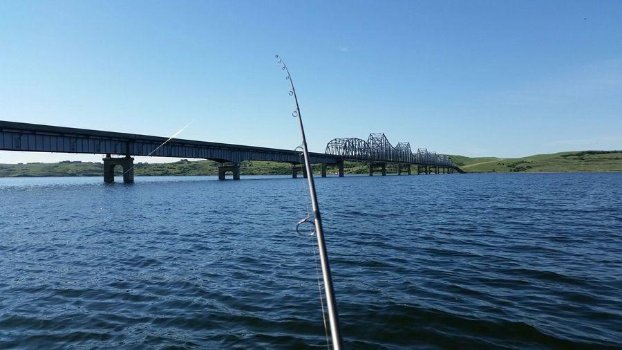 On the Missouri River. Missouri River South Dakota Lake Oahe Fishing