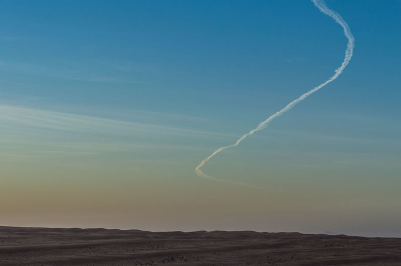 Beauty In Nature Contrail Day EyeEmNewHere Landscape Nature No People Outdoors Plane Scenics Sky Tranquil Scene Tranquility Vapor Trail