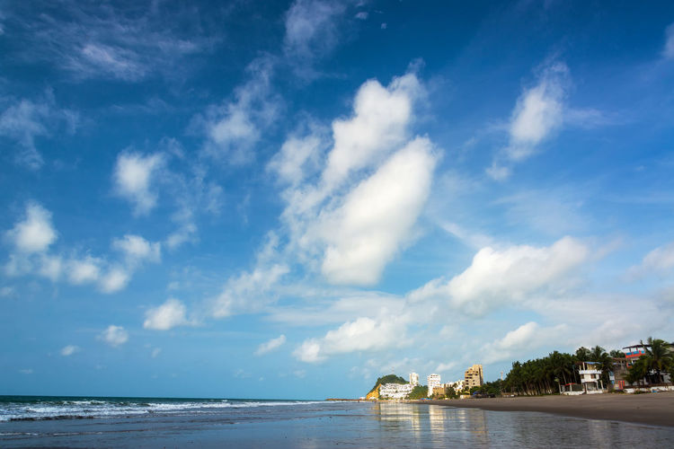 Wide beach and beautiful sky in Same, Ecuador Architecture Beach Beauty In Nature Cloud - Sky Day Ecuador Horizon Over Water Landscape Nature No People Ocean Outdoors Pacific Pacific Ocean Same  Sand Scenics Sea Sky South America Tourism Travel Travel Destinations Water Waterfront