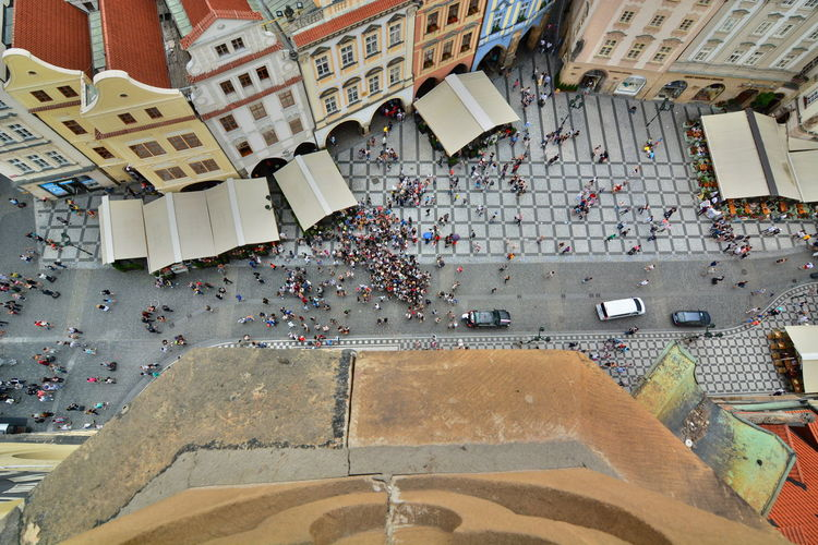 Old town square view from old town hall tower. prague