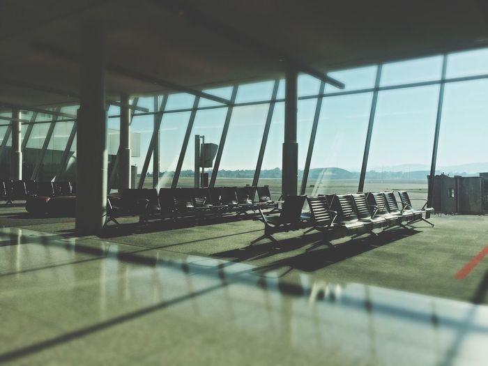 Airport Plane Morning Sunrise
