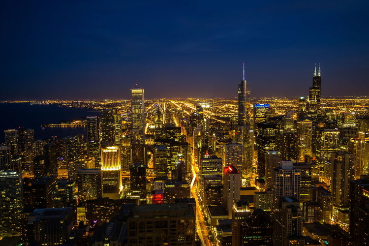 Architecture Chicago Chicago Architecture City City Life Cityscape Night No People Office Building Sky Skyline Tourism Tower United States United States Of America USA Urban Skyline
