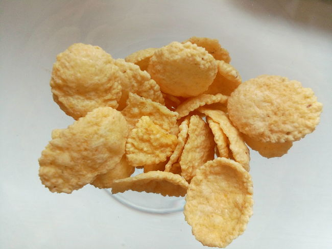 Potato Chip Fried Food Close-up Sereal  Yellow Freshness