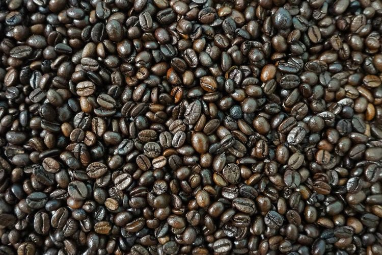 Coffee beans texture for background Coffee Bean Backgrounds Full Frame Textured  Brown Close-up Caffeine Espresso Prepared Food Roasted Cappuccino Black Coffee