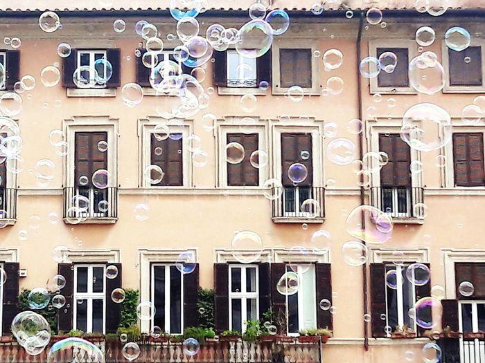 Piazza Navona Bubbles City Window Architecture Building Exterior Built Structure Travel Balcony Façade Historic Historic Building