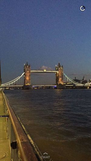 Bridge - Man Made Structure Built Structure Suspension Bridge Transportation Water Boat Ride London London Lifestyle London Bridge Londonlife London Life Thames River Side Thames 🚢