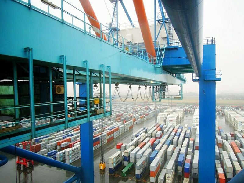 Containers Container Port Container Crane Bremerhaven