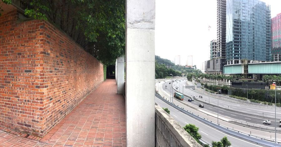 Dual view Kuala Lumpur Malaysia  Architecture Highway Mustapha Kamal Office Building Built Structure Two Worlds Two Different World Panoramic Photography Panoramic Panorama