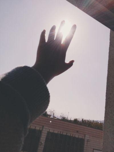 暖阳☀ Fujian Zhangzhou Longhai Human Hand Human Body Part Human Finger Silhouette Cold Temperature Winter One Person