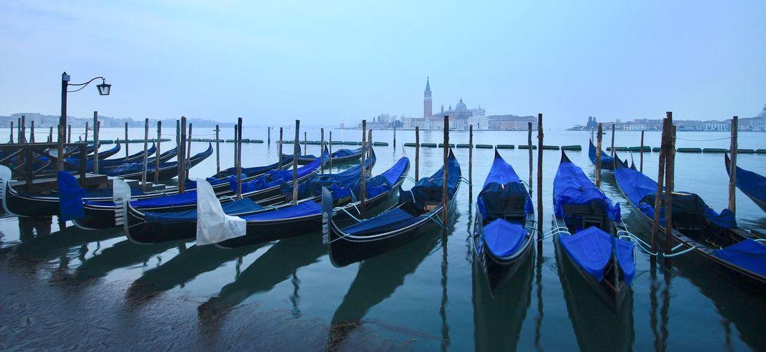 Venedig Basilica Di San Giorgio Maggiore Nautical Vessel Transportation Moored Water Sky Mode Of Transportation Nature Sea Travel Travel Destinations Canal