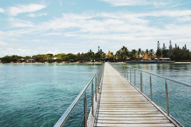 New Caledonia Nouvelle Calédonie Ilot Paradise Plage Tree Water Lake Pier Jetty Idyllic Sky Cloud - Sky