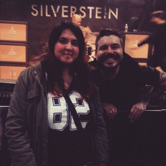 Awesome silverstein show like always! Thank you Josh for the photo!! It was nice to see you again ☺ Silverstein