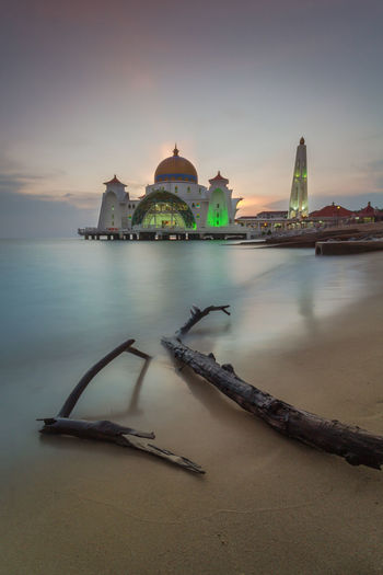 Malacca Straits Attraction Deadwood  Domestic Animals Seashore Beach Sunset Long Exposure Islam