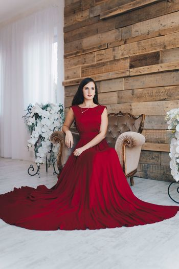 Red Beautiful Woman Only Women Beauty Vertical Full Length Beautiful People Person One Person Young Adult One Woman Only Formalwear Evening Gown Portrait Adult Young Women Indoors  People One Young Woman Only Wedding Dress First Eyeem Photo