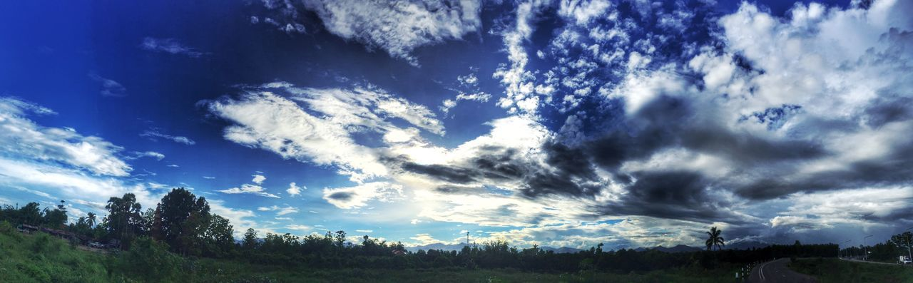 amazing blue sky Beauty In Nature Blue Cloud Cloud - Sky Cloudscape Cloudy Day Field Grass Growth Horizon Over Land Idyllic Landscape Mountain Nature No People Non Urban Scene Non-urban Scene Outdoors Remote Scenics Sky Tranquil Scene Tranquility Tree